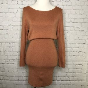 Lulu's Mauve Bodycon Sweater Dress Medium